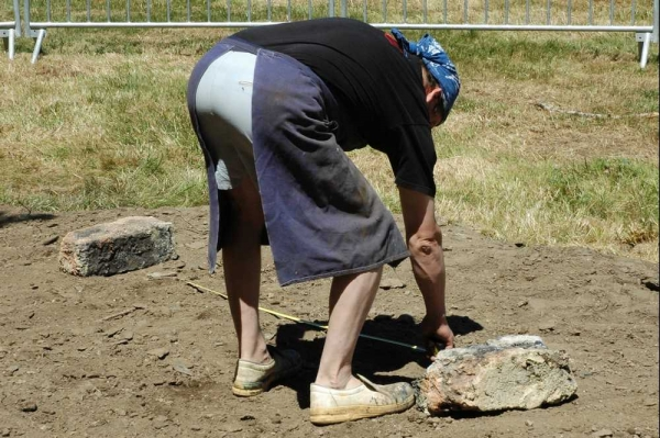 Bas-fourneau à Ségur en 2009