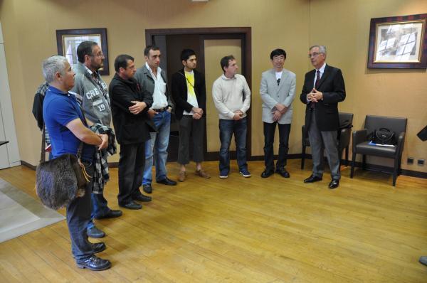 Réception au Conseil Général de l'Aveyron par M. Blanquet