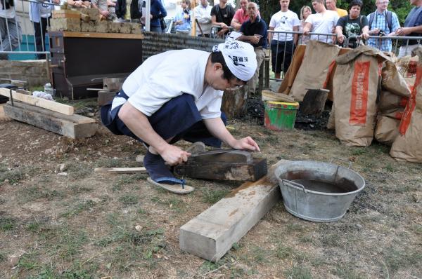 Préparation de la lame pour la trempe à la pierre