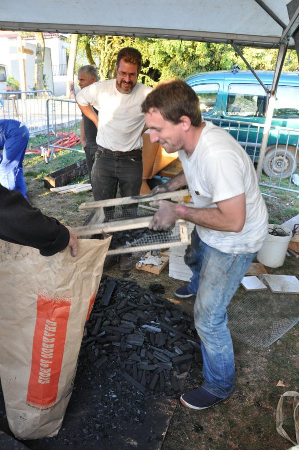 Calibrage du charbon de bois