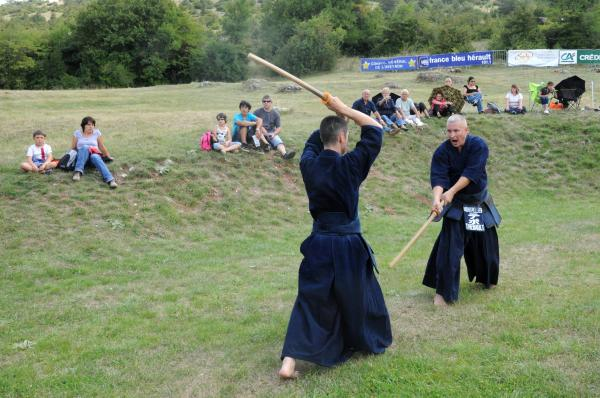 Démonstration par les clubs de kendo et iaido de Carmaux, Rodez et Montpellier