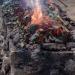 Tatara avec le minerai de fer du Larzac à Fers et Lames en 2017